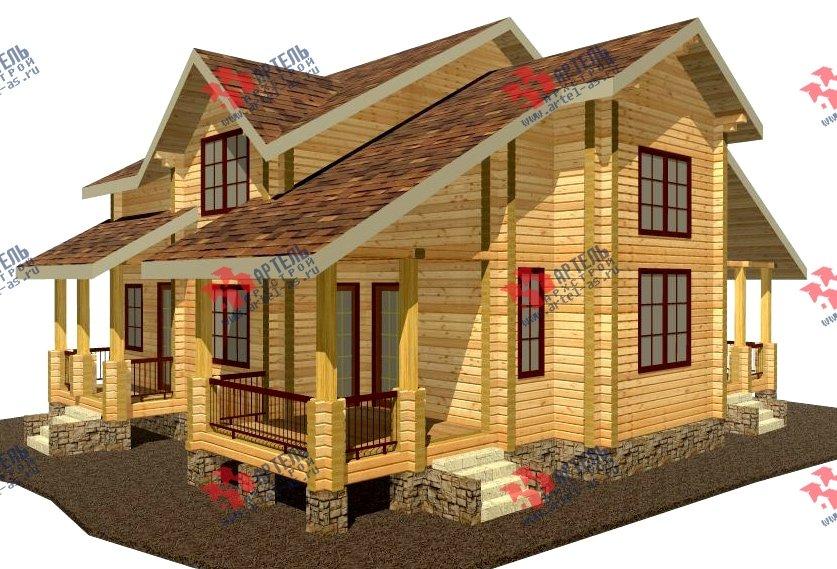 двухэтажный дом из профилированного бруса площадью свыше 200 кв. м. с  мансардой, проект Вариант 10.7 К фотография 110