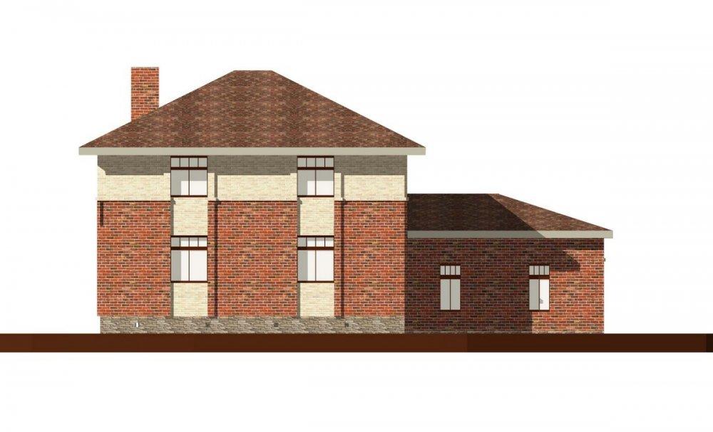 двухэтажный дом омбинированные дома площадью свыше 200 кв. м., проект Вариант 18,4А Камень и Комбинированный фотография 6062