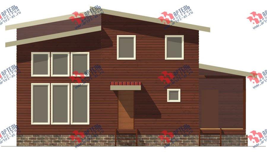 двухэтажный дом из бруса площадью от 150 до 200 кв. м. с  мансардой, проект Вариант 12.2 А фотография 2212