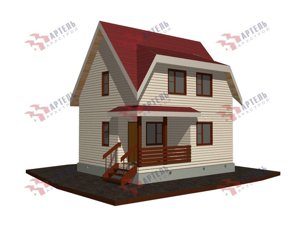 двухэтажный дом из профилированного бруса площадью до 100 кв. м. с  мансардой, проект Вариант 6 Д фотография 5783
