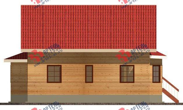двухэтажный дом из бруса площадью свыше 200 кв. м. с  балконом, мансардой, террасой, эркером, проект Вариант 13 Г фотография 2406