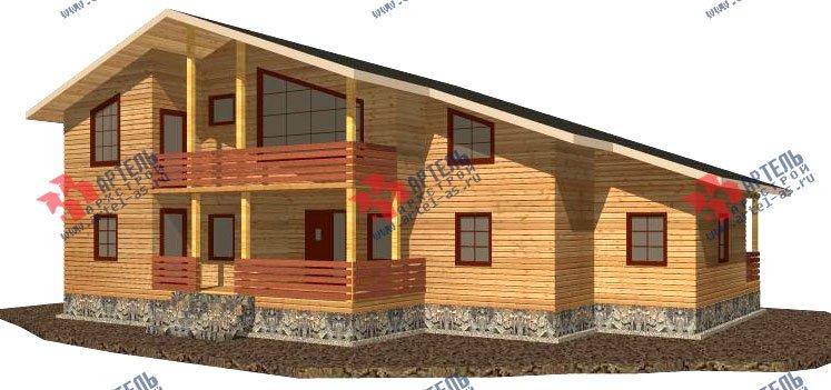 двухэтажный дом из бруса площадью свыше 200 кв. м. с  балконом, мансардой, террасой, проект Вариант 18 А фотография 2414