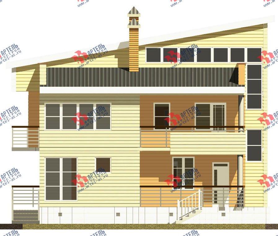 двухэтажный дом из профилированного бруса камерной сушки площадью свыше 200 кв. м. с  балконом, террасой, проект Вариант 3 фотография 2543