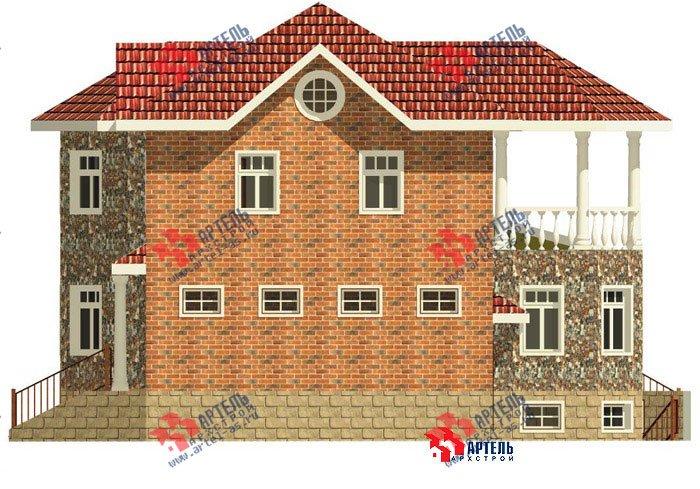 двухэтажный дом из камня площадью свыше 200 кв. м. с  верандой, гаражом, террасой, эркером, проект Вариант 2 фотография 452