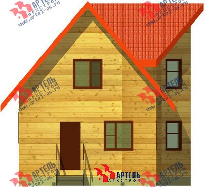 двухэтажный дом из бруса площадью до 100 кв. м. с  мансардой, эркером, проект Вариант 6 А фотография 671