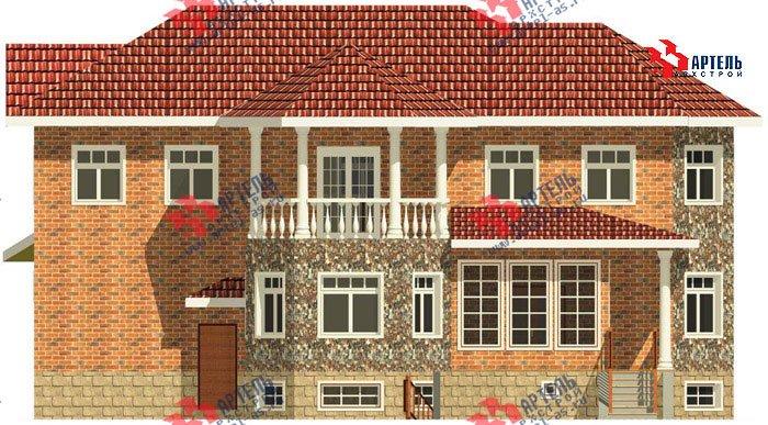 двухэтажный дом из камня площадью свыше 200 кв. м. с  верандой, гаражом, террасой, эркером, проект Вариант 2 фотография 453