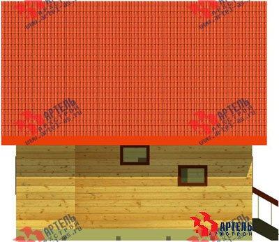 двухэтажный дом из бруса площадью до 100 кв. м. с  мансардой, эркером, проект Вариант 6 А фотография 672