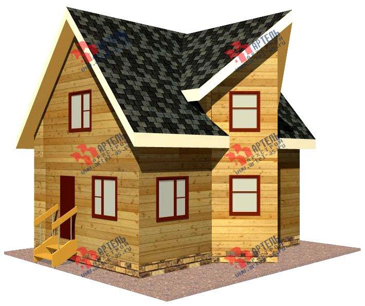 двухэтажный дом из бруса площадью до 100 кв. м. с  мансардой, эркером, проект Вариант 6 А фотография 673