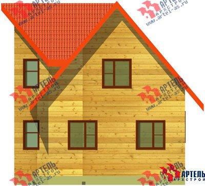 двухэтажный дом из бруса площадью до 100 кв. м. с  мансардой, эркером, проект Вариант 6 А фотография 675
