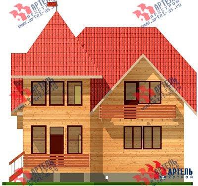 двухэтажный дом из профилированного бруса площадью от 150 до 200 кв. м. с  балконом, мансардой, проект Вариант 9 К фотография 1274