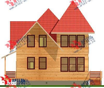 двухэтажный дом из профилированного бруса площадью от 150 до 200 кв. м. с  балконом, мансардой, проект Вариант 9 К фотография 1275