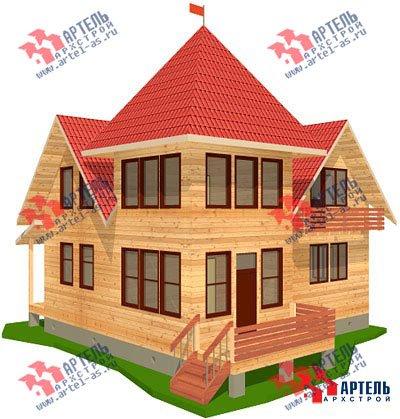двухэтажный дом из профилированного бруса площадью от 150 до 200 кв. м. с  балконом, мансардой, проект Вариант 9 К фотография 1273