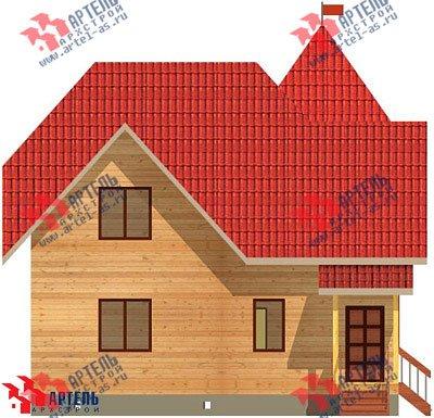 двухэтажный дом из профилированного бруса площадью от 150 до 200 кв. м. с  балконом, мансардой, проект Вариант 9 К фотография 1277
