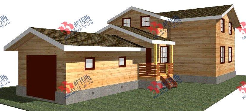 двухэтажный дом из бруса площадью от 150 до 200 кв. м. с  гаражом, мансардой, проект Вариант 8.6 Б фотография 2434