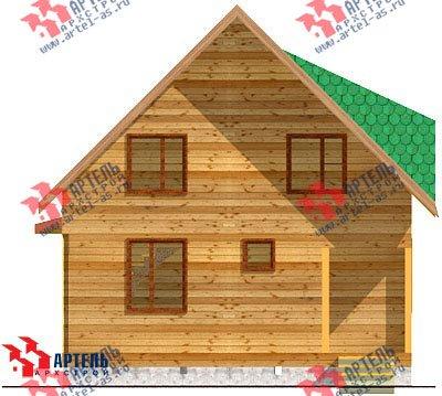двухэтажный дом из профилированного бруса площадью до 100 кв. м. с  мансардой, эркером, проект Вариант 7 Д фотография 819