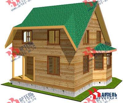 двухэтажный дом из профилированного бруса площадью до 100 кв. м. с  мансардой, эркером, проект Вариант 7 Д фотография 823
