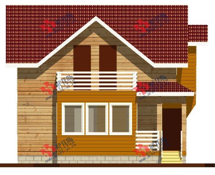 двухэтажный дом из профилированного бруса камерной сушки площадью от 100 до 150 кв. м. с  балконом, мансардой, террасой, проект Вариант 1 фотография 2523