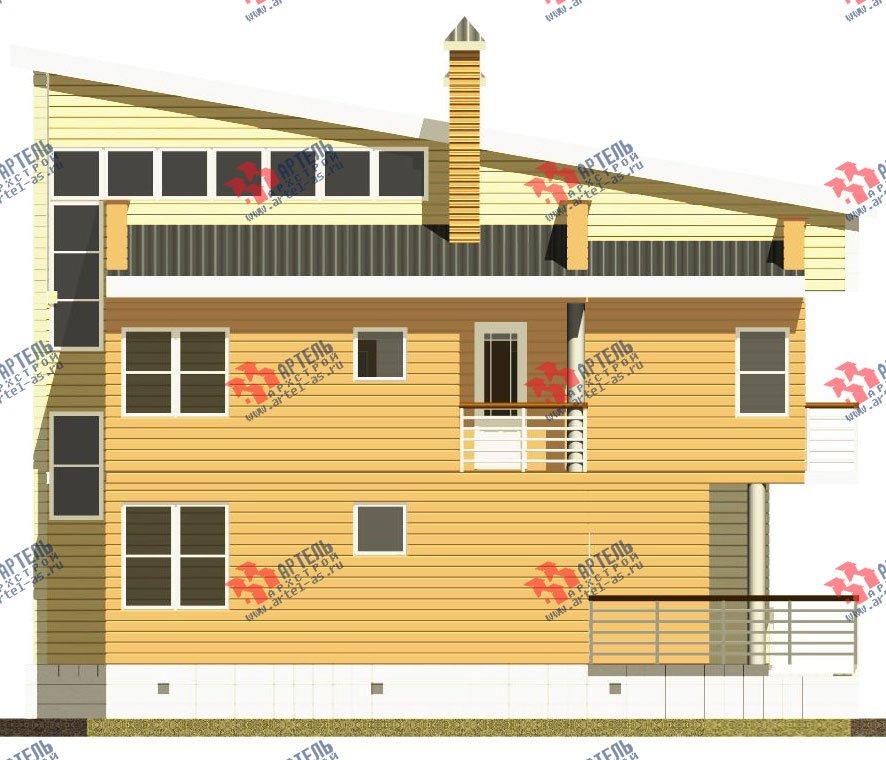двухэтажный дом из профилированного бруса камерной сушки площадью свыше 200 кв. м. с  балконом, террасой, проект Вариант 3 фотография 2546