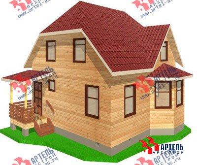 двухэтажный дом из профилированного бруса площадью до 100 кв. м. с  мансардой, эркером, проект Вариант 7 Е фотография 825