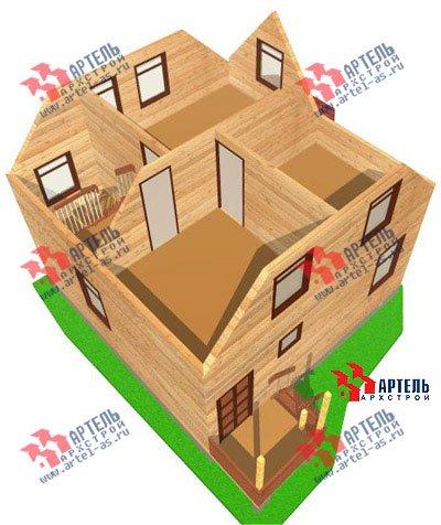 двухэтажный дом из профилированного бруса площадью до 100 кв. м. с  мансардой, эркером, проект Вариант 7 Е фотография 831