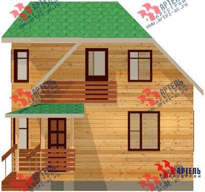 двухэтажный дом из профилированного бруса площадью от 100 до 150 кв. м. с  балконом, мансардой, эркером, проект Вариант 6 К фотография 743
