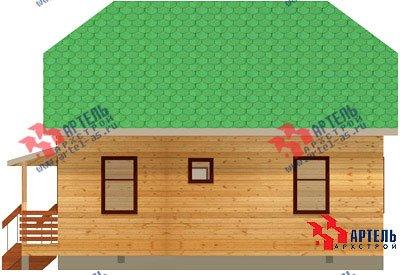 двухэтажный дом из профилированного бруса площадью от 100 до 150 кв. м. с  балконом, мансардой, эркером, проект Вариант 6 К фотография 744