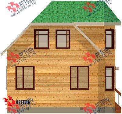 двухэтажный дом из профилированного бруса площадью от 100 до 150 кв. м. с  балконом, мансардой, эркером, проект Вариант 6 К фотография 745