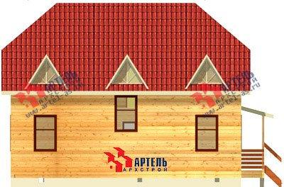 двухэтажный дом из бруса площадью от 150 до 200 кв. м. с  мансардой, эркером, проект Вариант 10 Б фотография 1335