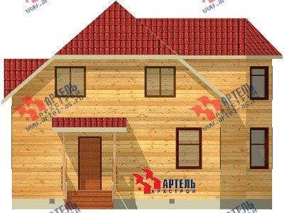 двухэтажный дом из бруса площадью от 150 до 200 кв. м. с  мансардой, эркером, проект Вариант 10 Б фотография 1336