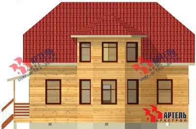 двухэтажный дом из бруса площадью от 150 до 200 кв. м. с  мансардой, эркером, проект Вариант 10 Б фотография 1337