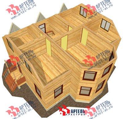 двухэтажный дом из бруса площадью от 150 до 200 кв. м. с  мансардой, эркером, проект Вариант 10 Б фотография 1339