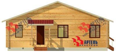 одноэтажный дом из профилированного бруса площадью от 100 до 150 кв. м. с  террасой, проект Вариант 10 В фотография 1139