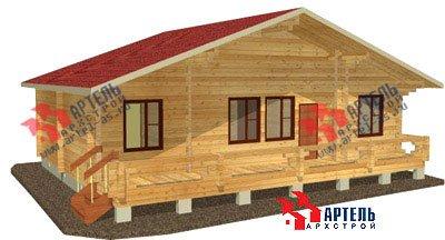 одноэтажный дом из профилированного бруса площадью от 100 до 150 кв. м. с  террасой, проект Вариант 10 В фотография 1138