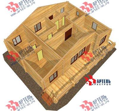 одноэтажный дом из профилированного бруса площадью от 100 до 150 кв. м. с  террасой, проект Вариант 10 В фотография 1143