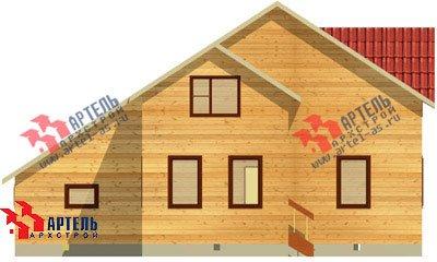 двухэтажный дом из бруса площадью свыше 200 кв. м. с  верандой, гаражом, мансардой, проект Вариант 12.8 А фотография 1445