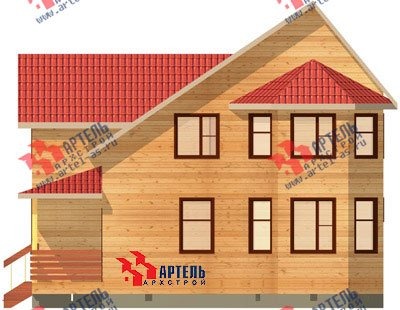 двухэтажный дом из бруса площадью от 100 до 150 кв. м. с  балконом, мансардой, террасой, эркером, проект Вариант 7.5 В фотография 936