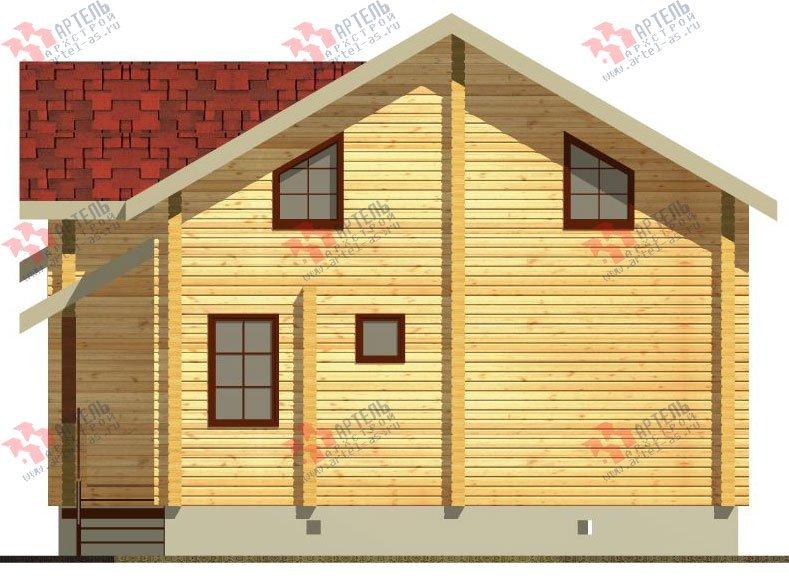 двухэтажный дом из профилированного бруса площадью от 100 до 150 кв. м. с  балконом, проект Вариант 9.5 К фотография 68