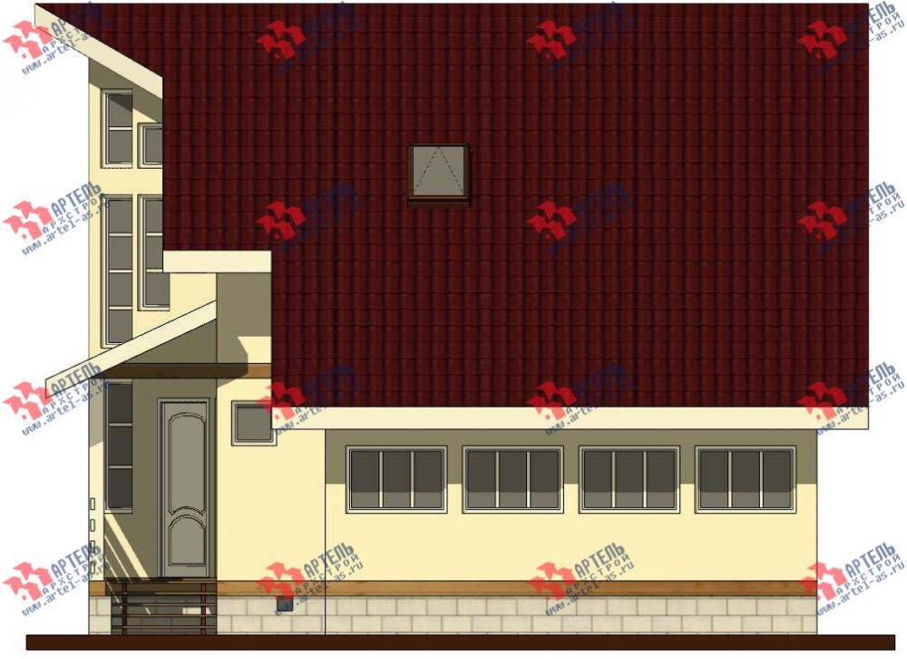 двухэтажный дом из бруса площадью от 150 до 200 кв. м. с  мансардой, террасой, эркером, проект Вариант 10 фотография 3006
