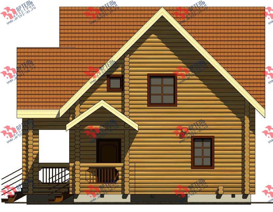 двухэтажный дом из оцилиндрованного бревна площадью свыше 200 кв. м. с  балконом, террасой, проект Вариант 3 фотография 3047