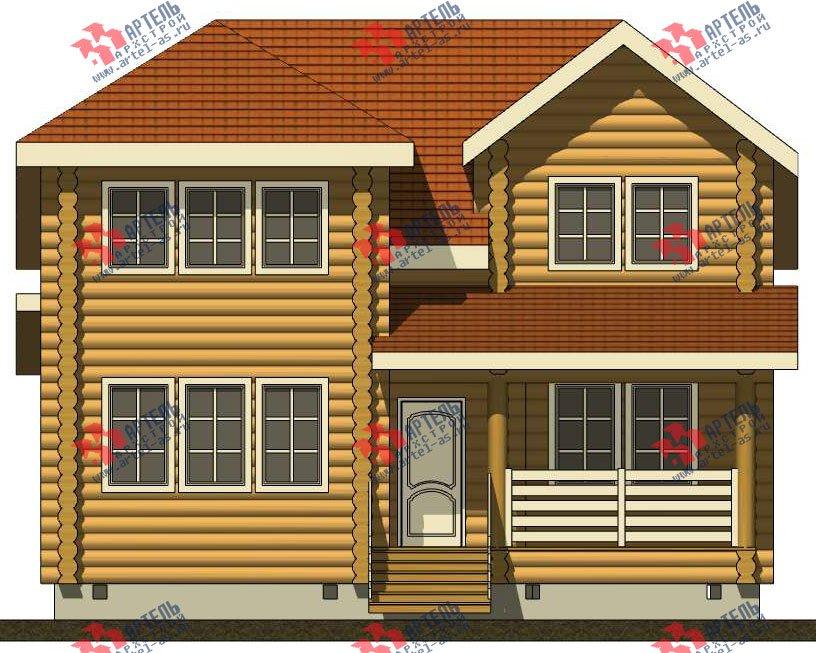 двухэтажный дом из оцилиндрованного бревна площадью от 150 до 200 кв. м. с  мансардой, проект Вариант 7 фотография 3104