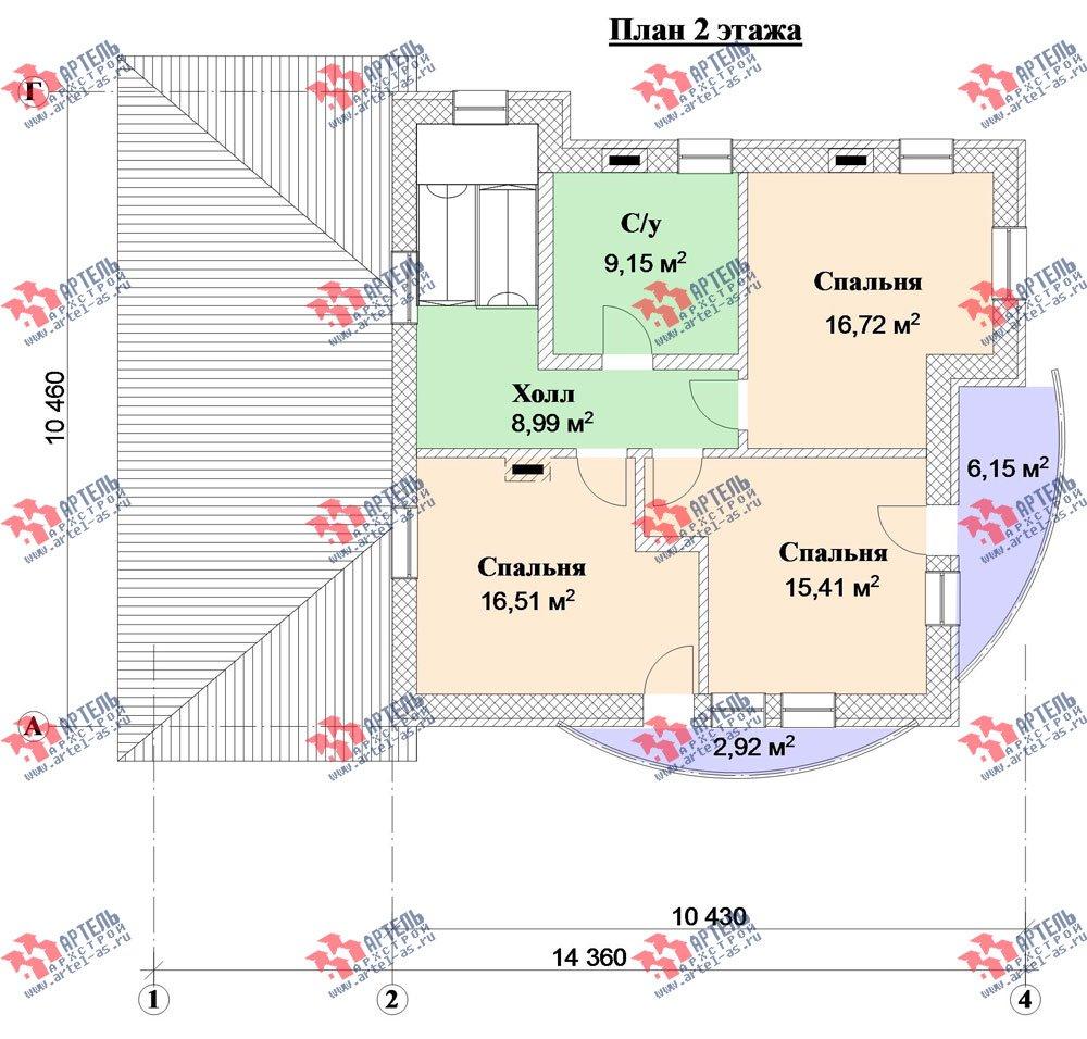 трёхэтажный дом из камня площадью свыше 200 кв. м. с  балконом, гаражом, террасой, эркером, проект Вариант 3 фотография 3137