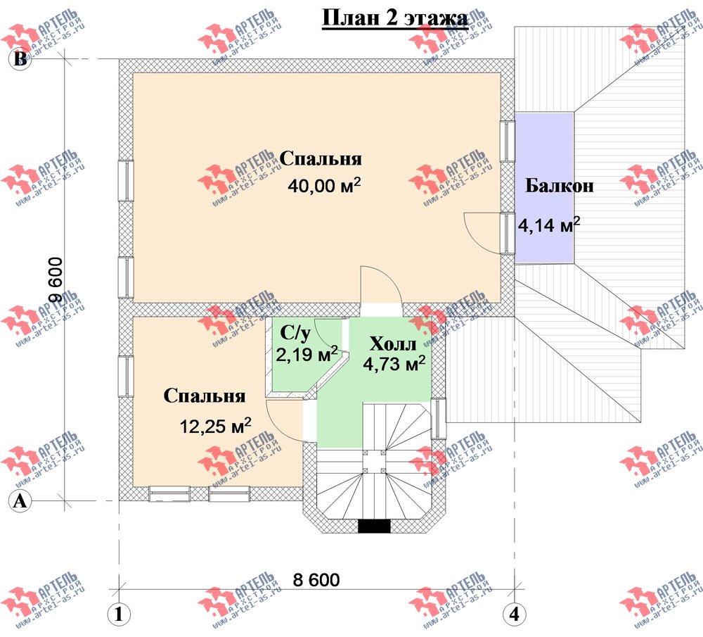 двухэтажный дом из камня площадью от 100 до 150 кв. м. с  балконом, террасой, эркером, проект Вариант 5 фотография 3139