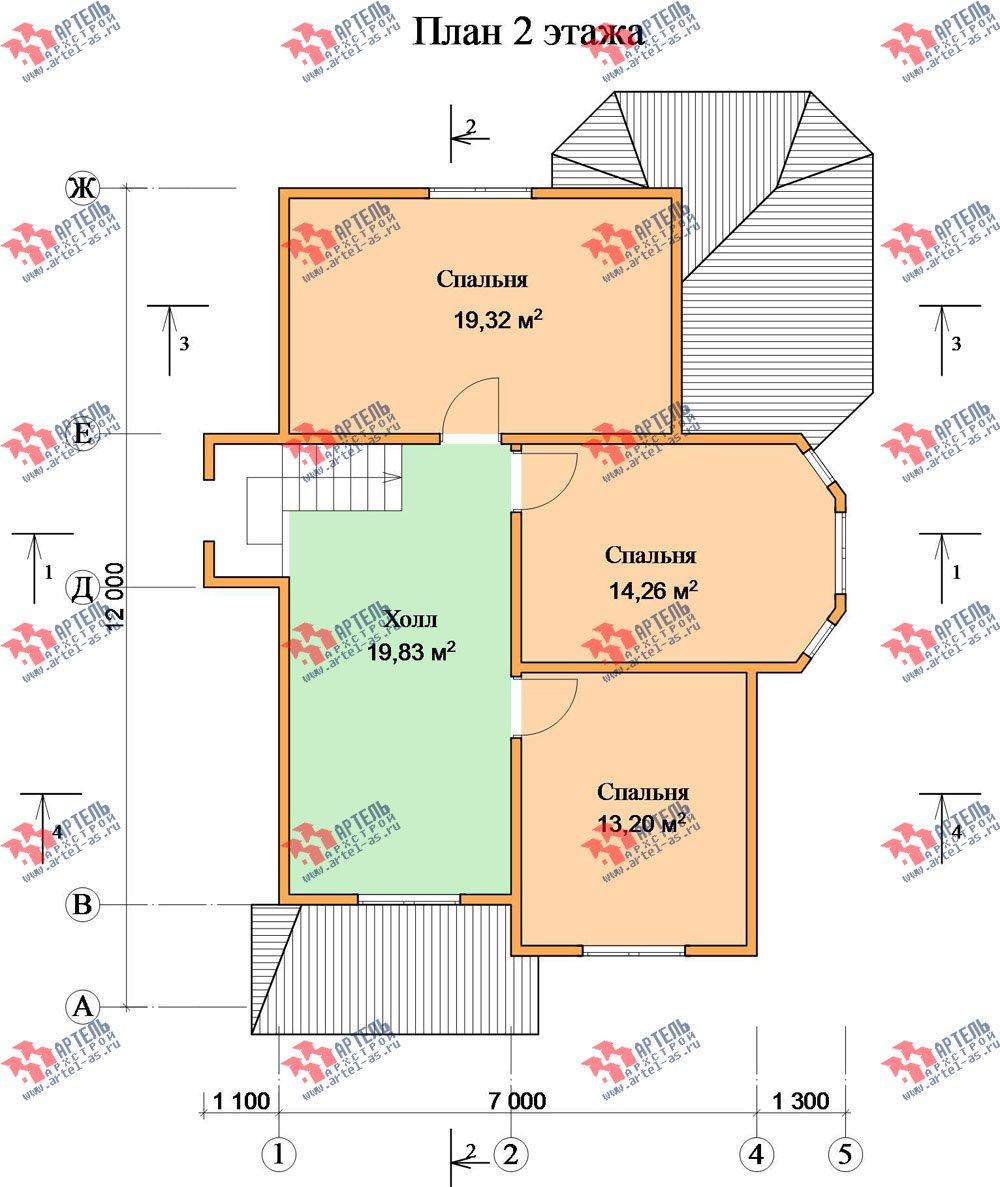 двухэтажный дом из бруса площадью от 150 до 200 кв. м. с  эркером, проект Вариант 11.2 В фотография 3163