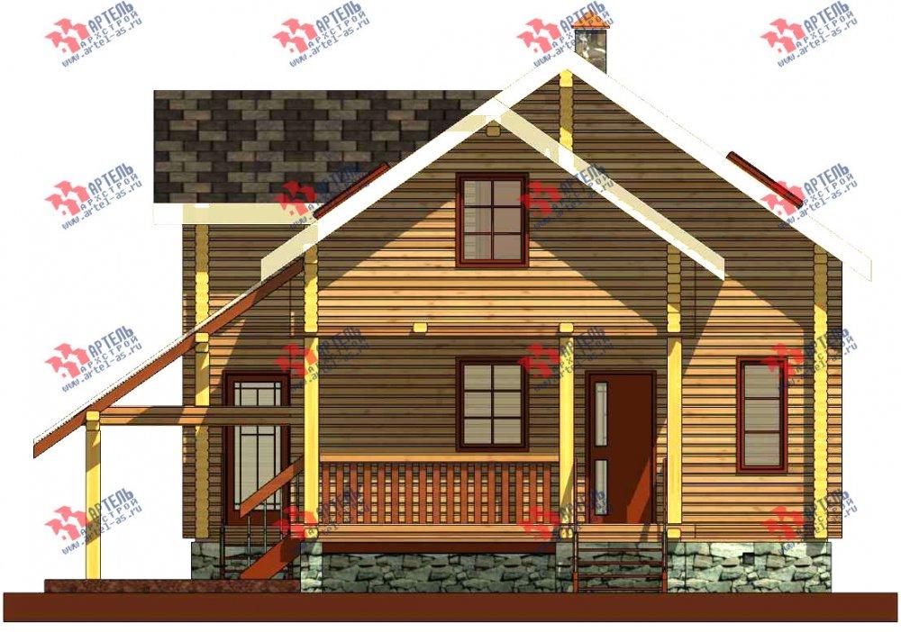 двухэтажный проект площадью от 100 до 150 кв. м. с  мансардой, террасой, проект Вариант 8.7 А фотография 3278