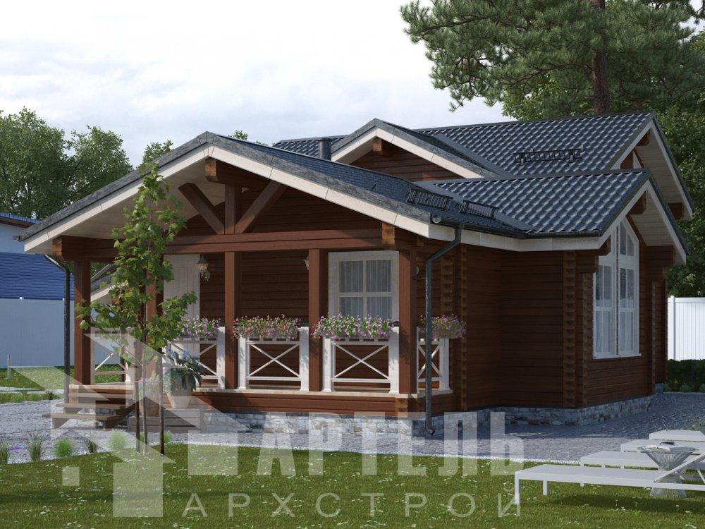 двухэтажный дом из профилированного бруса площадью от 100 до 150 кв. м., проект Вариант 13.3 А фотография 6588