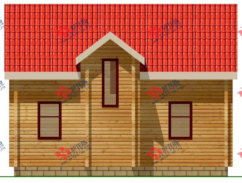 двухэтажный дом из профилированного бруса площадью от 100 до 150 кв. м. с  мансардой, эркером, проект Вариант 9 А фотография 231