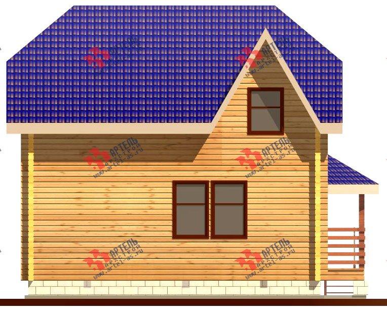 двухэтажный дом из профилированного бруса площадью от 100 до 150 кв. м. с  мансардой, эркером, проект Вариант 8 Т фотография 242