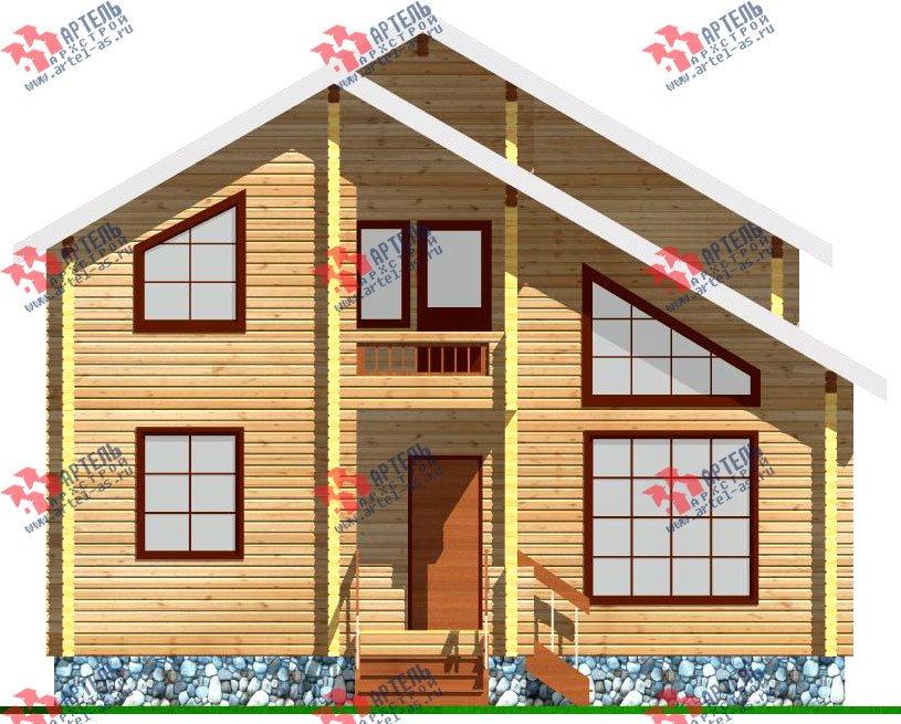 двухэтажный дом из профилированного бруса площадью от 100 до 150 кв. м. с  балконом, мансардой, проект Вариант 9.3 К фотография 253