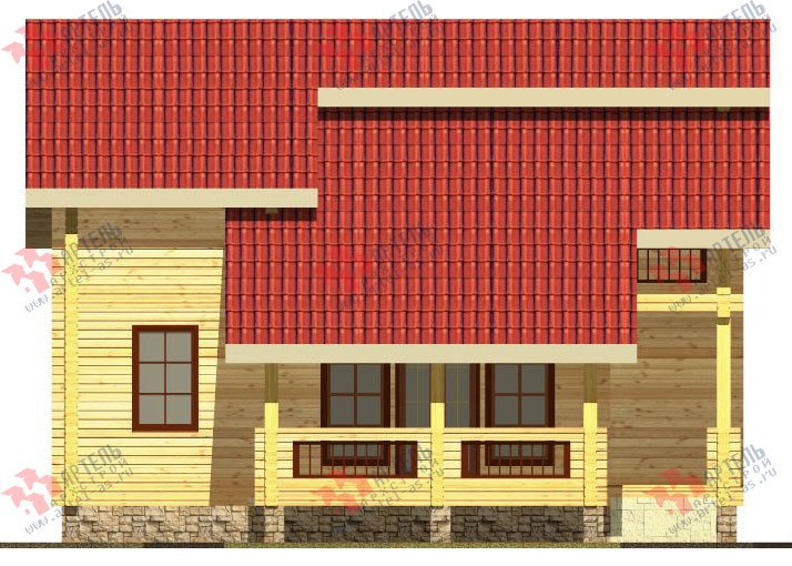 двухэтажный дом из профилированного бруса площадью от 150 до 200 кв. м. с  балконом, мансардой, террасой, проект Вариант 8.6 К фотография 329