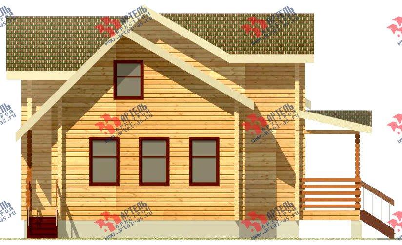 двухэтажный дом из профилированного бруса площадью от 150 до 200 кв. м., проект Вариант 9 О фотография 362
